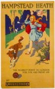 Vintage London Underground poster - Hampstead Heath